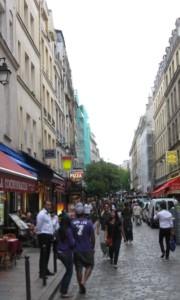 Street scene, Latin Quarter, Paris.
