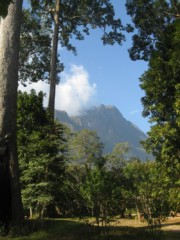 The view of the mountains in Chiang Dao Thailand