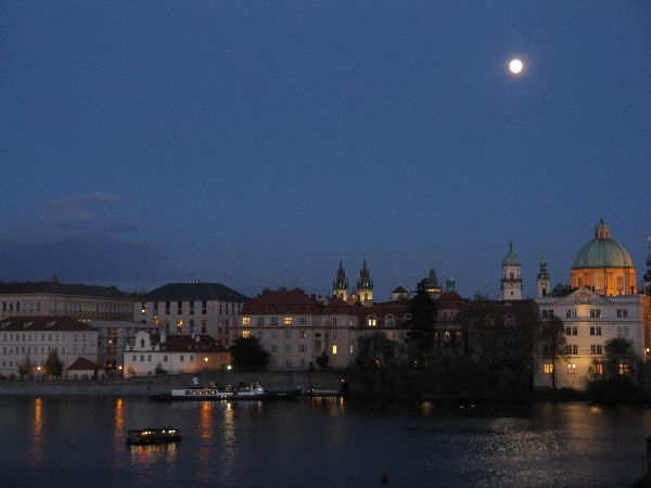 Fabulous Friday Foto:  Prague Photo of the Full Moon