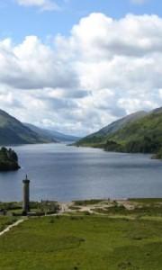 Loch Shiel and the Glenfinnan Momument, Scotland