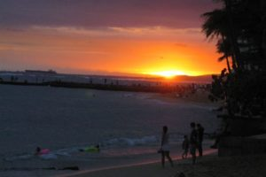 Fabulous Friday Foto: Waikiki Photo – Sunset on the Beach