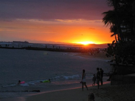 Hawaii Sunset from Waikiki Beach