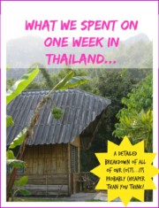 Our budget for thailand for one week