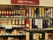 Whiskey in a gas station in Scotland