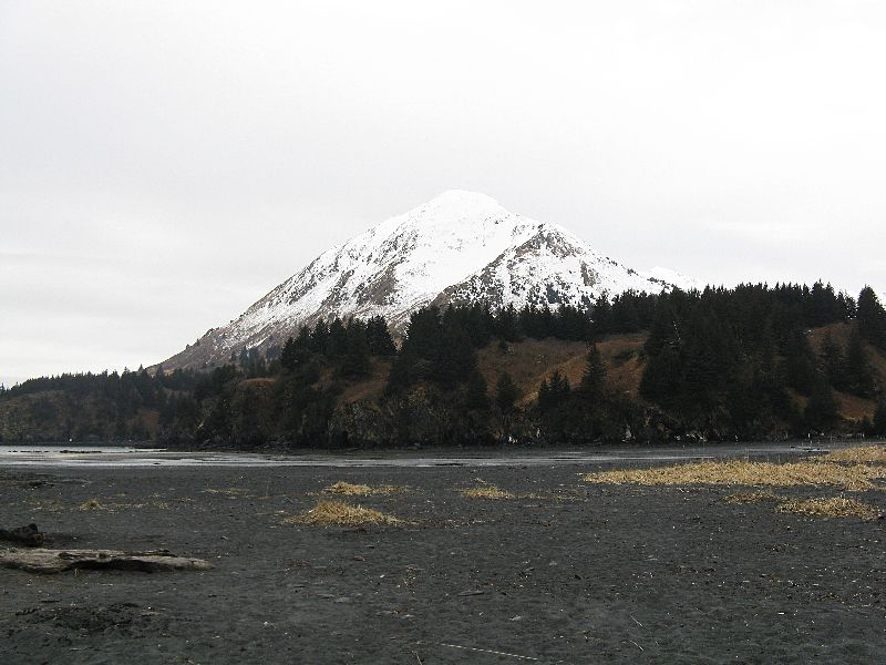 Fabulous Friday Foto: Alaska Photo – A Snowcapped Mountain on Kodiak Island, AK