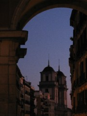 Dusk in Madrid, Spain