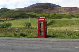 Fabulous Friday Foto: An Out of the Way Red Phone Booth in the Scottish Highlands