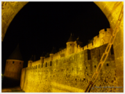Carcassone Tips: Walk around the castle at night for some great photos!