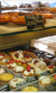 French Pastries at a boulangerie in France