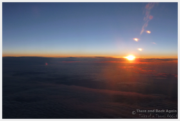 Sunrise on airplane