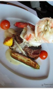 The Surf and Turf at the Pinnacle Grill on our Holland America Cruise