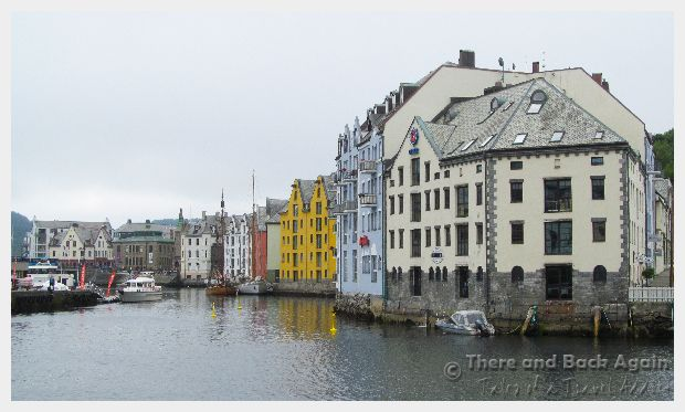The Alesund waterfront and old town.