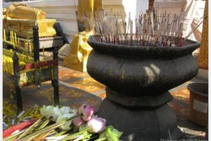 Fabulous Friday Foto: Incense and Offerings At A Temple in Thailand