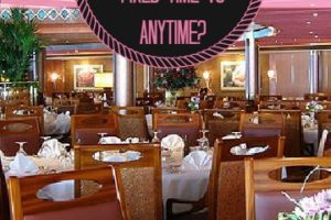 Cruise Ship Dining Options:  Fixed Time Dining VS. Anytime Dining