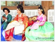 Women wearing traditional costumes in Korea