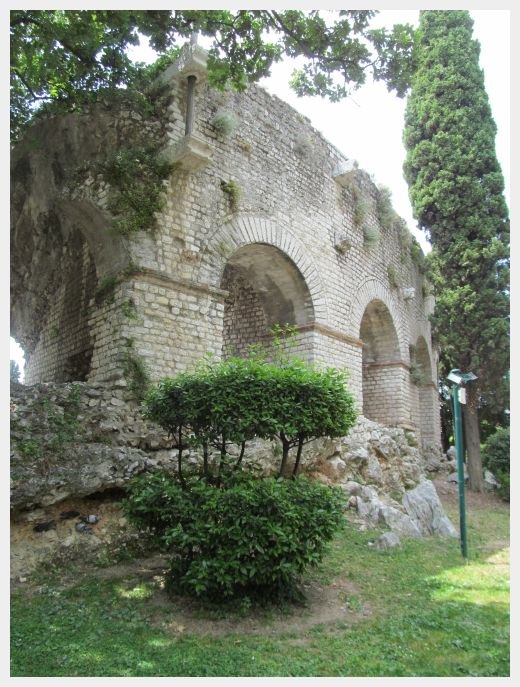 The ruins of an old Roman amphitheater in Nice