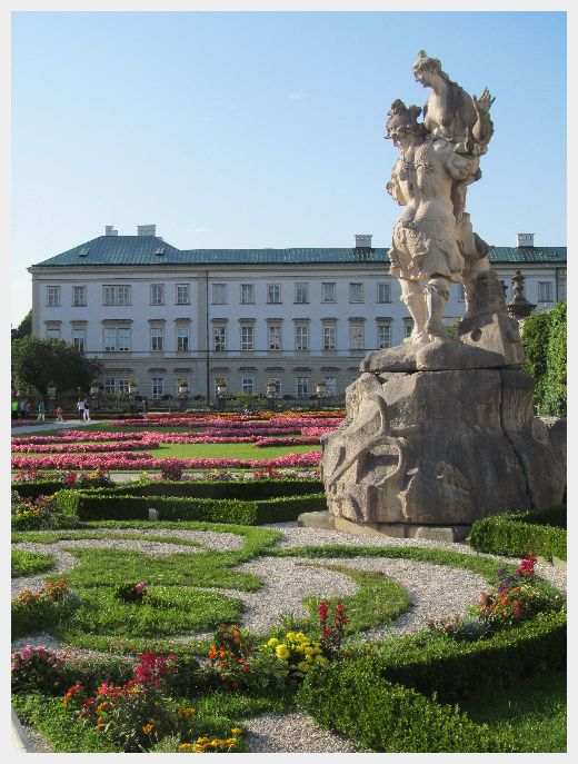 Mirabell Gardens Salzburg - Austria and Switzerland Itinerary