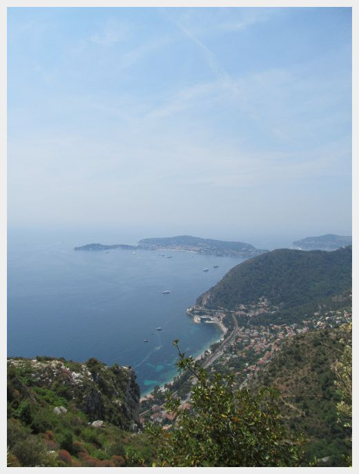 The view from the top of Eze Village lookout