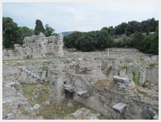 Roman ruins at the Cimiez Monastery in Nice France