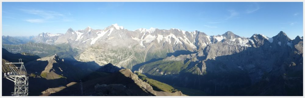 Schilthorn Bahn panorama - the most beautiful places in Switzerland