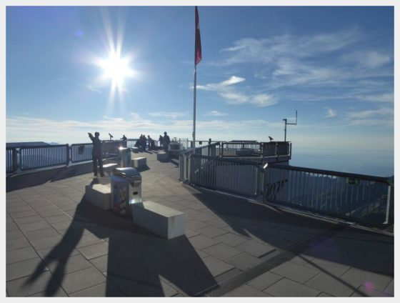 Schilthorn banh viewing platform - best mountain views in Switzerland