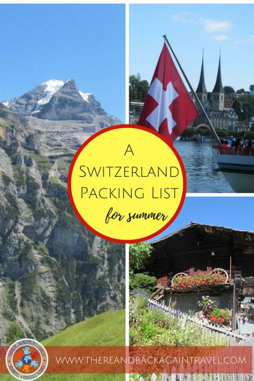 What to Wear in Switzerland in the Summer - A Switzerland Packing List