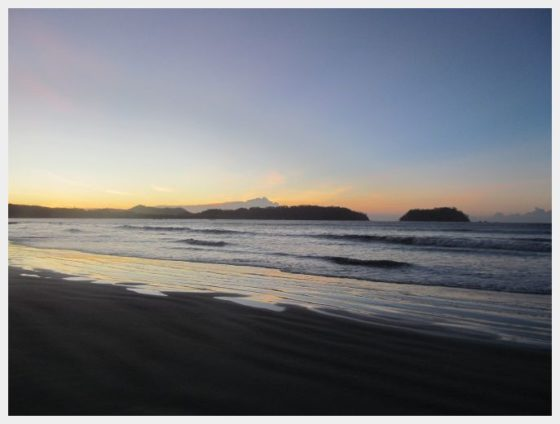 Sunrise on Samara beach Costa Rica