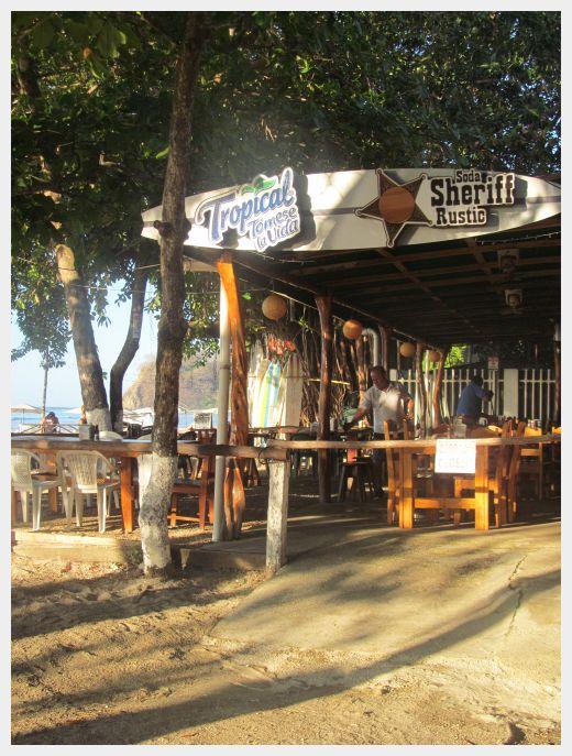 Restaurant Sheriff Rustic Samara Beach Costa Rica