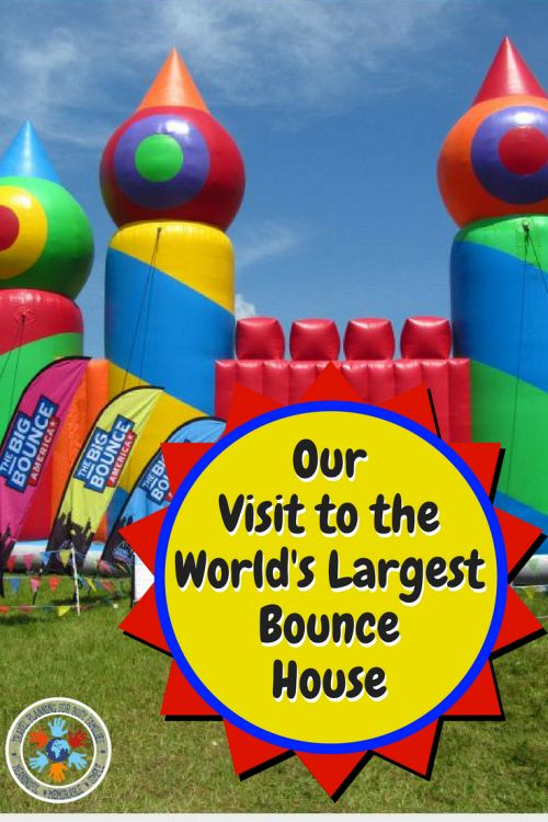 Our Experience at the World's Largest Bounce House - Pinnable Image