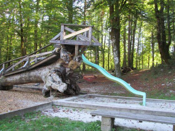 Playground near Lake Bohinj, Slovenia