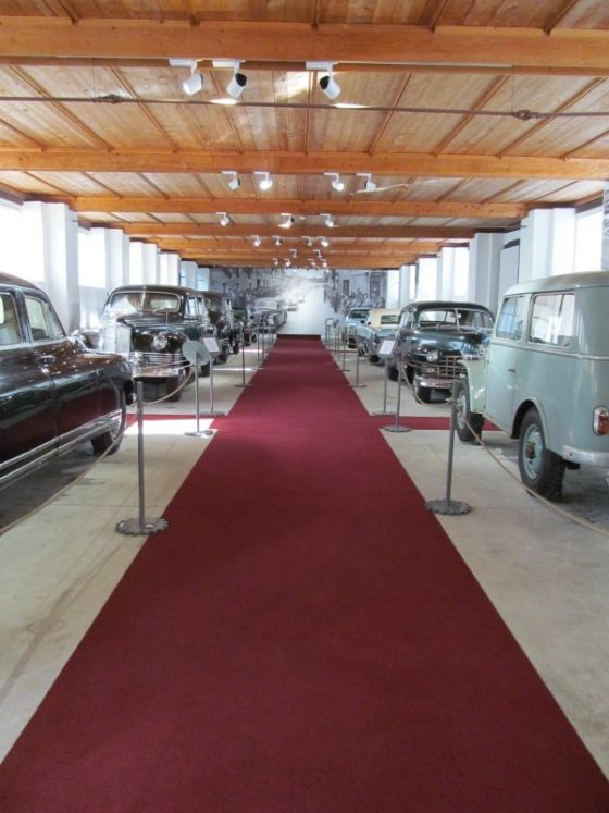 A collection of President Tito's cars at the Technical Museum of SLovenia