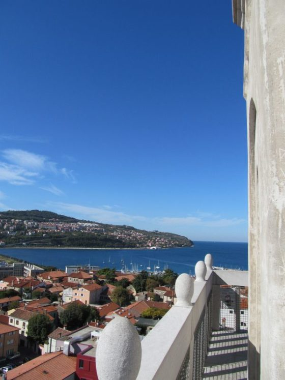 The view from the top of the Koper Bell Tower