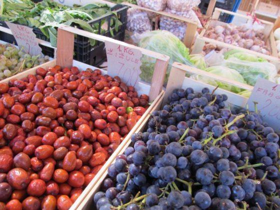 The lovely market in Koper, Slovenia