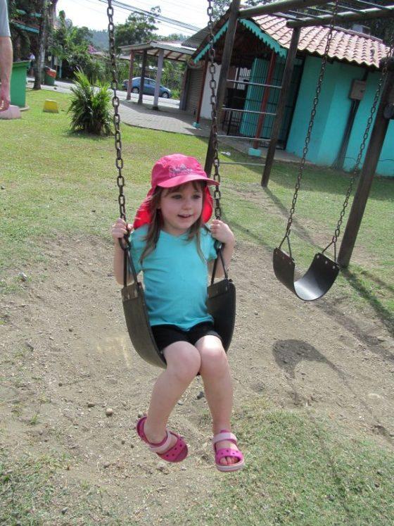 The playground in Cahuita Costa Rica