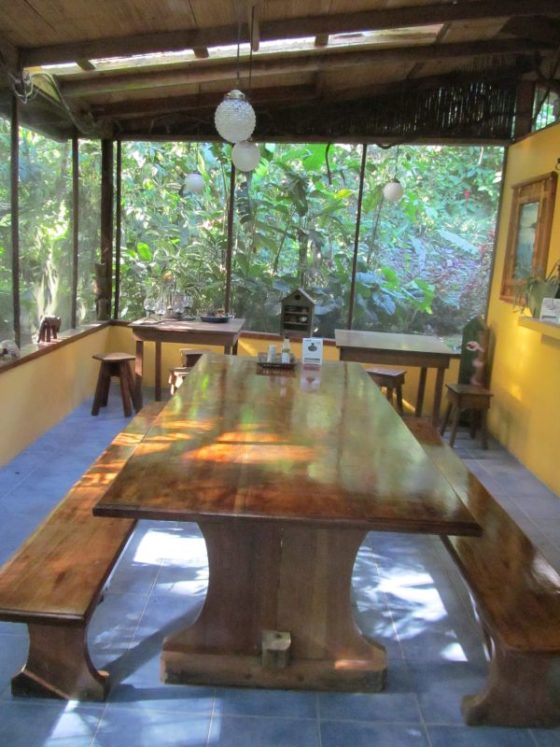 The Dining Room at the Casa Rio Blanco Eco Lodge
