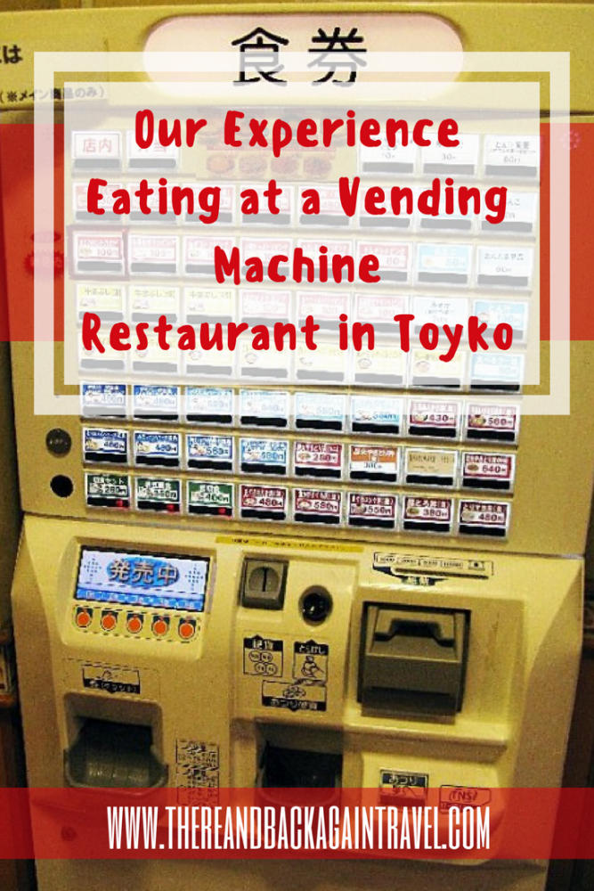 Eating at a Vending Machine Restaurant Tokyo