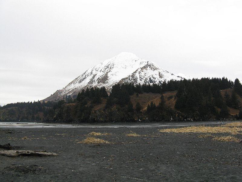 Fabulous Friday Foto: Alaska Photo – A Snowcapped Mountain on Kodiak Island, AK