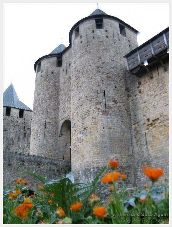 The Chateau de Comtal where you access the ramparts of Carcassonne Castle (one of the best things to do in Carcassonne France!)