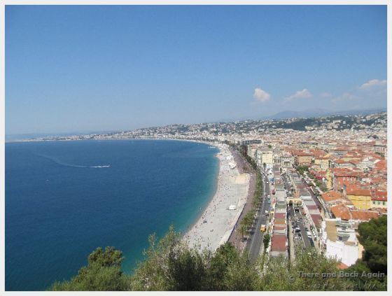 Views from the top of Castle Hill Nice France