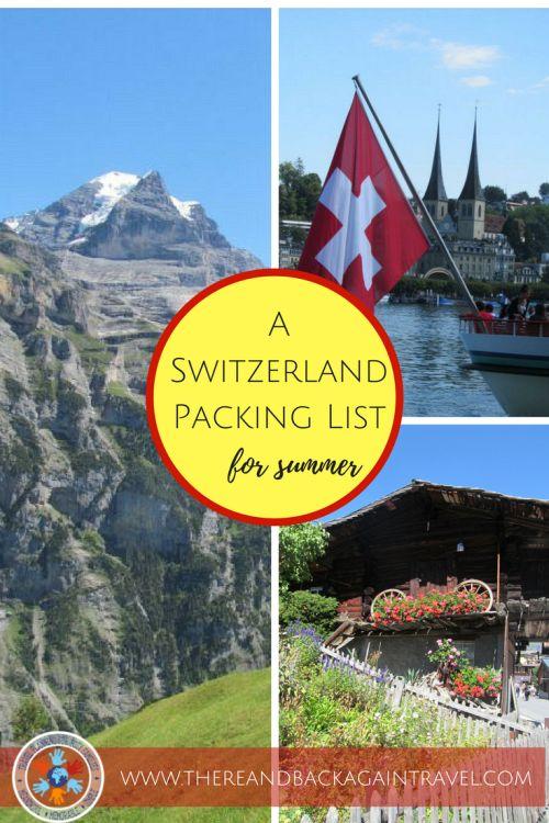What to Wear in Switzerland in the Summer - A Switzerland Packing List
