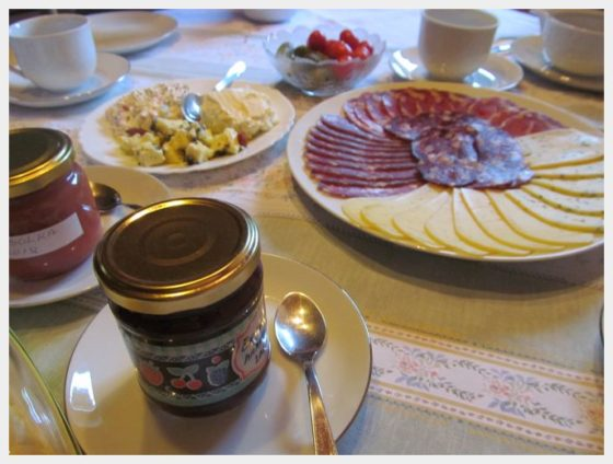 Some of the best Slovenian dishes that we had was at the farms that we stayed at.