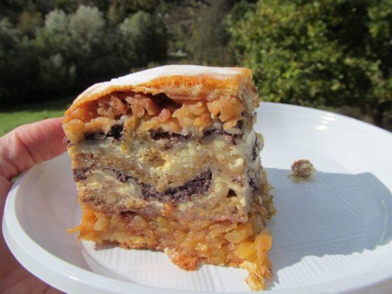 Gibanica Cake from the little restaurant near Predjama Castle