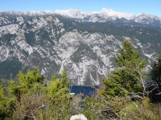 Views from the top of the Vogel Cable Car, Lake Bohinj Slovenia