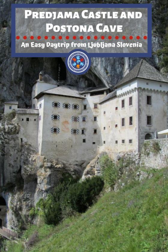 Pinterest Image Postojna Cave and Predjama Castle