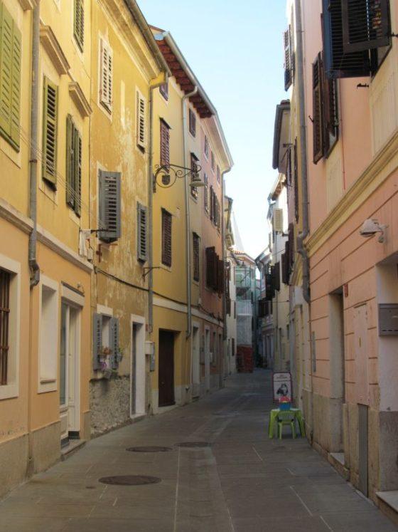 A street scene in Izola, Slovenia