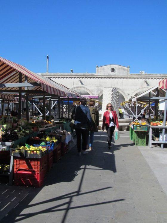 The market near Hlavatyjev Park in Koper. Slovenia