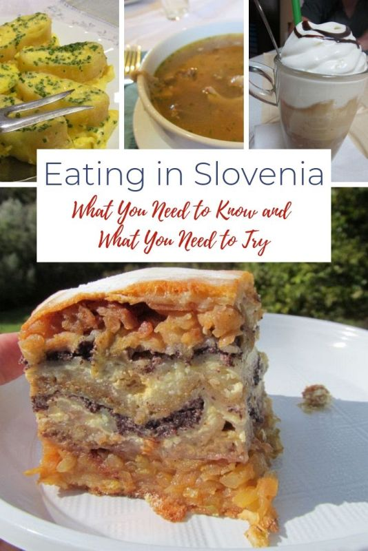 Slovenian Food: What to Eat in Slovenia Pinterset Image