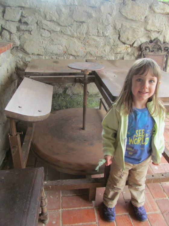 My daughter at the pottery studio