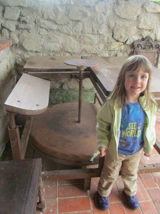 My daughter at the pottery studio at La Montana Magica Alojamiento Rural en Asturias