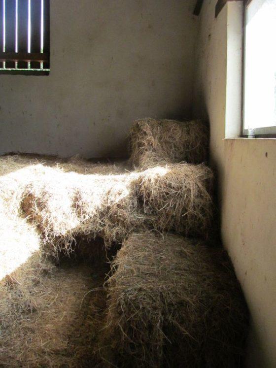 The hayloft on the farm